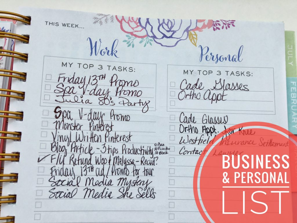 Business & Personal List - Productivity