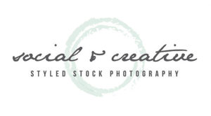Social & Creative Styled Stock Photography Logo
