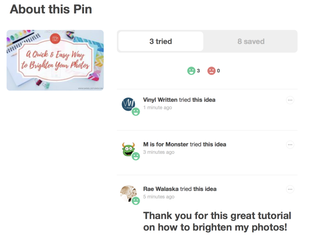 Pinterest Tried It Review